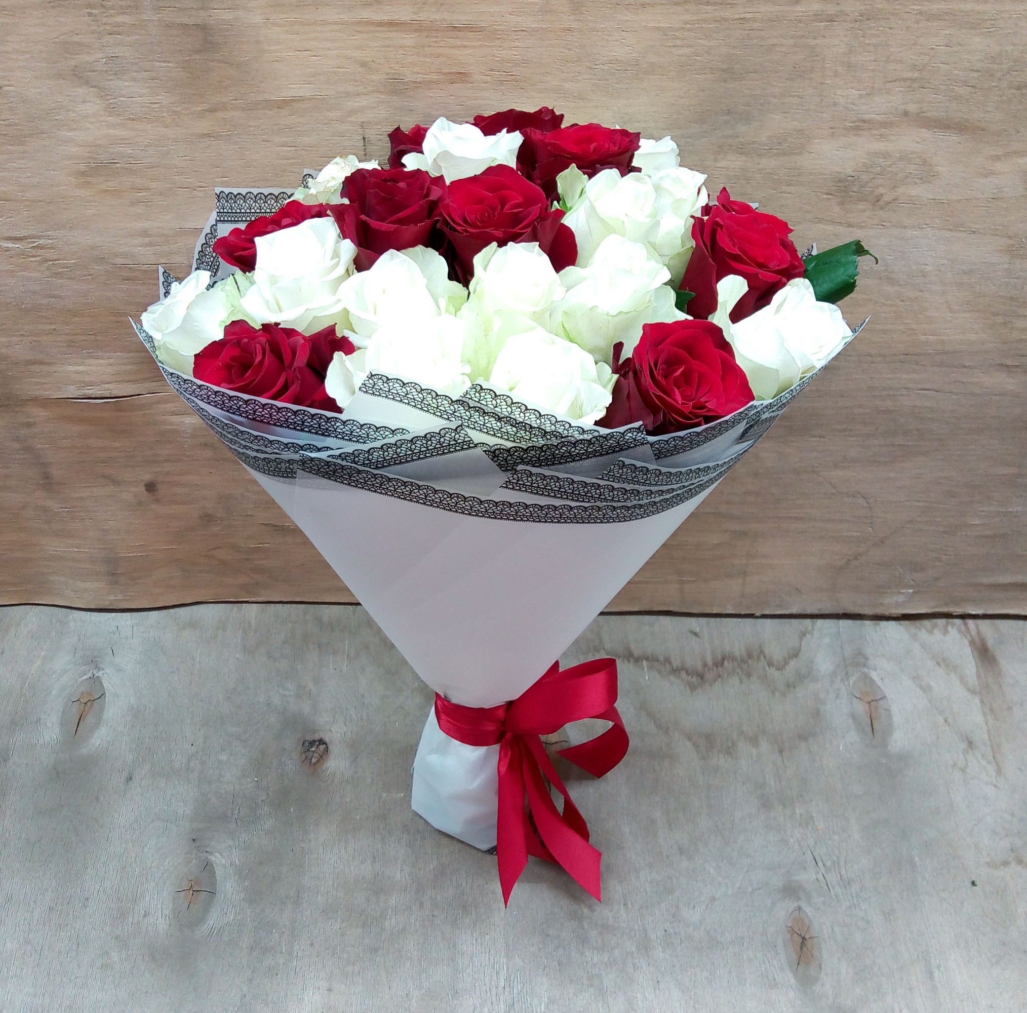 Красно белых букет цветов картинки 6