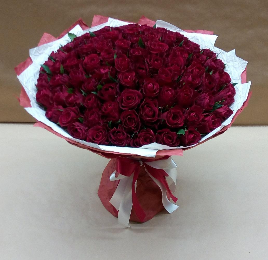 Купить цветы 101 бордовая роза